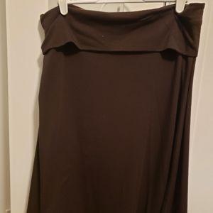 Old Navy Brown Foldover Skirt